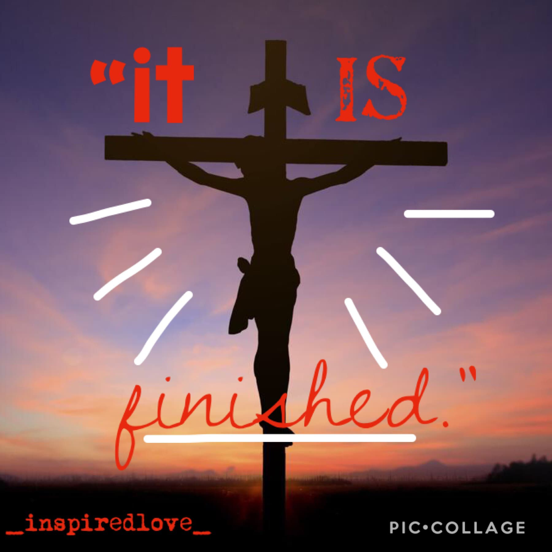 """it is Good Friday and i'm glad to say i'm celebrating it. i wanted to make this because what Jesus did for us was indescribable and we don't deserve it but he still died for us. it's truly incredible. """"I couldn't earn it, and I don't deserve it, still you"""