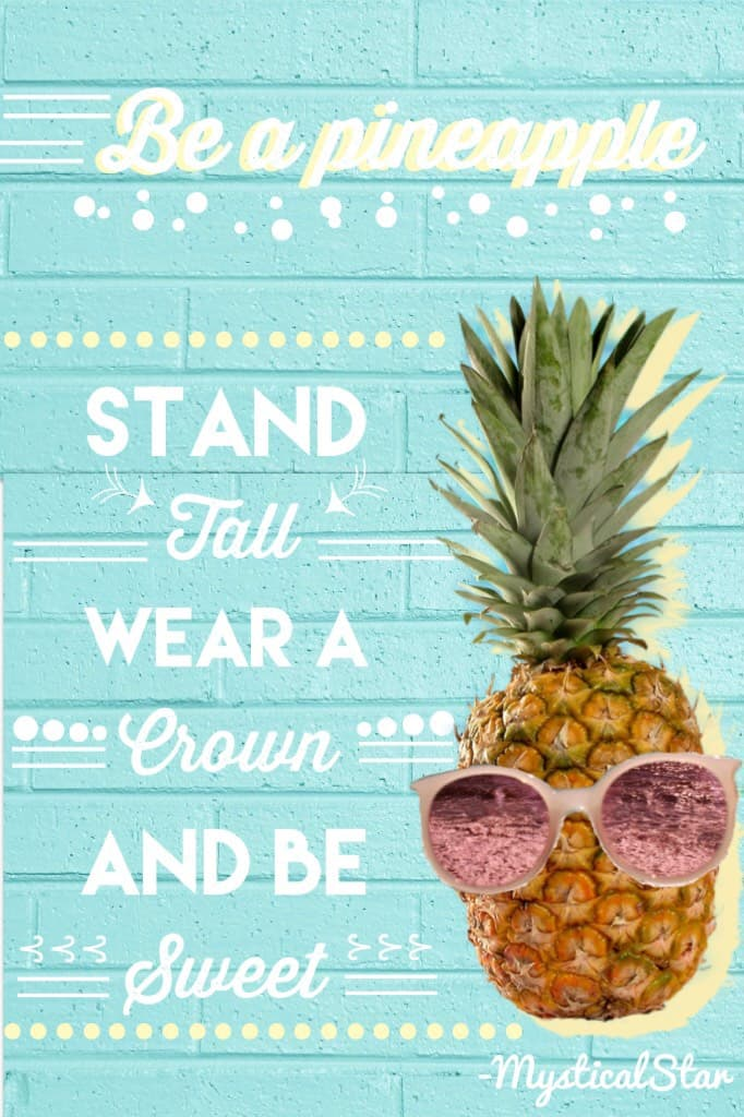 ~Tap~ ✨Hello Guys i hope you are all well 🎈Let's get this to 100 likes 🔑My goal here is to get 1K followers 🎀I take requests  🍍Remember to be the pineapple !