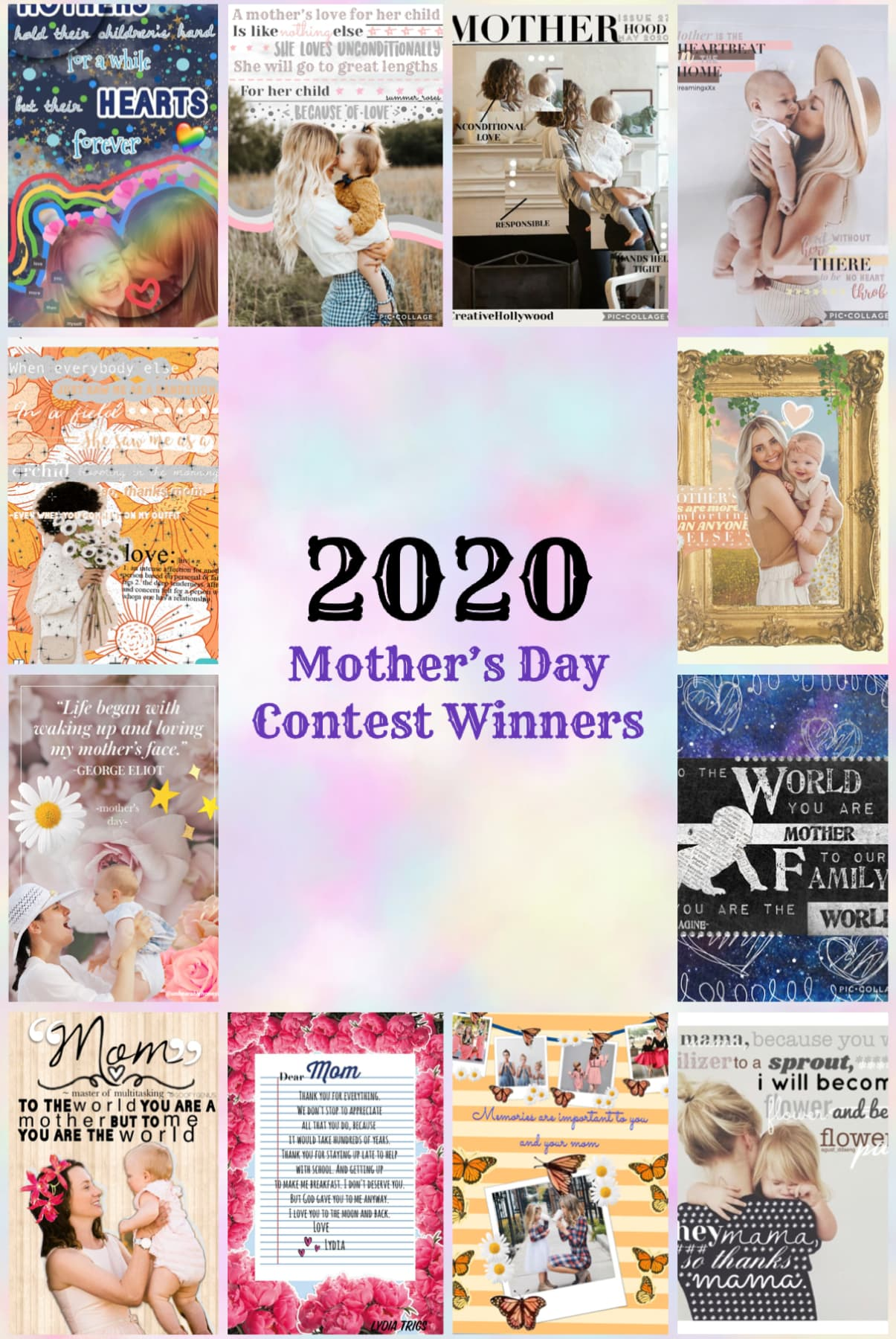 Mother's Day contest winners. We 💖 all the moms out there!
