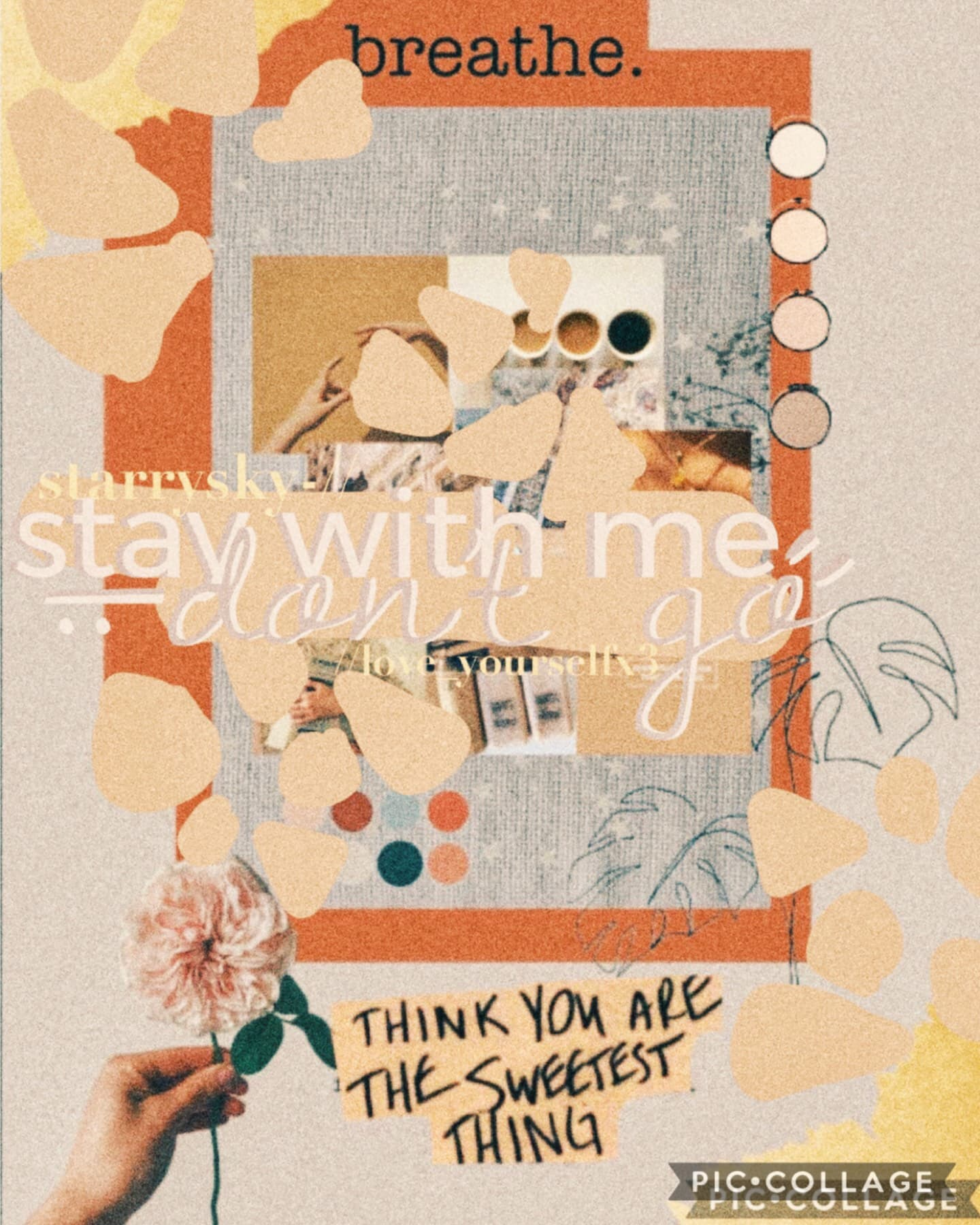 Collab with starrysky-!! Tap for moree  She did the background and I did the text, a little hard to read but this looks quite pretty overall I think :DD