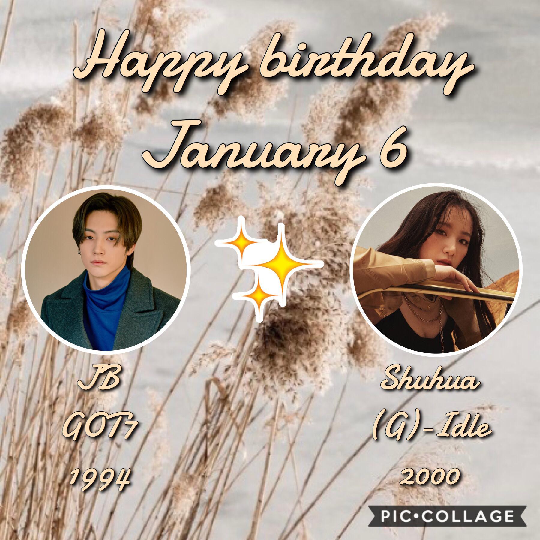 •🎈❄️• Birthdays coming up: •CLC's Eunbin~Jan 6 •AOA's Jimin~ Jan 8 •EXID's Solji~ Jan 10 •JBJ95's Kenta~Jan 10 •ONEUS's Xion~Jan 10 •Iz*One's Chaeyeon~ Jan 11 ☃️❄️~Whoop~❄️☃️