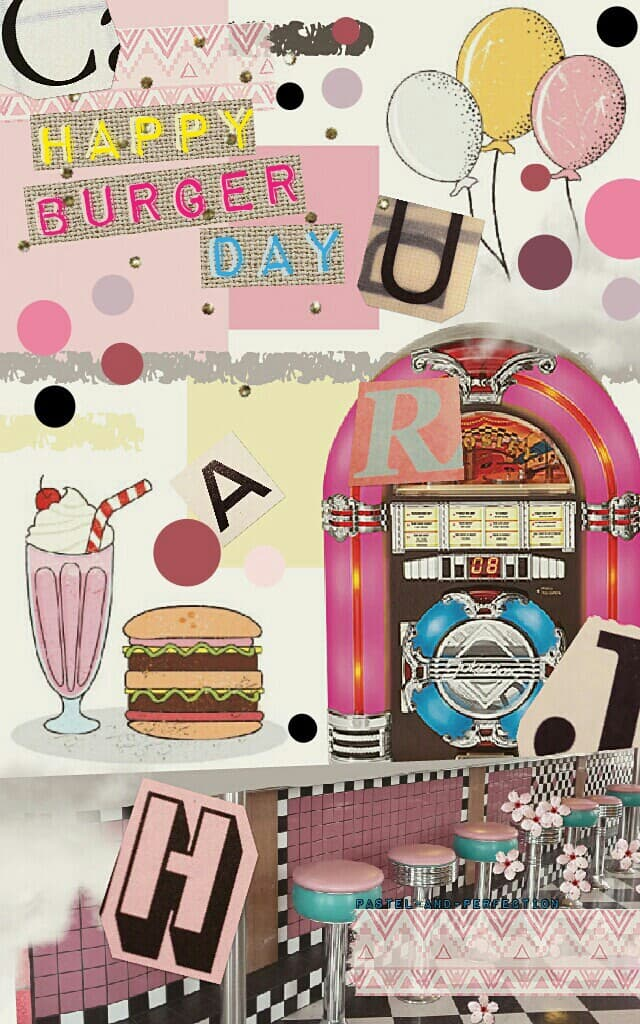 🍔 What do you guys think Rate 1-10?? I'm not sure about it! 🍔   Shout Out To AnimaLover15! 💕   Tags: almost Pconly collage stickers love grease stickers heart happy burger day #burgerday #HappyBurgerDay cheeseburger jukebox draw on collage Pastel-and-Perf