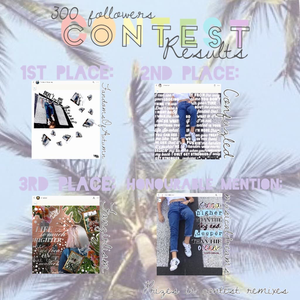 ✨CONTEST RESULTS!!✨ TAP IMPORTANT ✨ I will comment you your prizes and give them to you!  Honourable mention gets a spam! Thank you EVERYONE who participated! Tell me if you would like another contest!