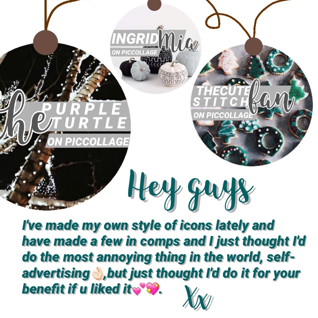 🎄ICONS🎄 Thought I'd put it out there incase, bauble idea inspired by @YouHaveTalent!!💕💖👌🏻