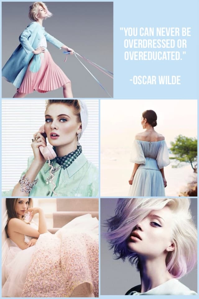"""You can never be overdressed or overeducated.""  -Oscar Wilde"