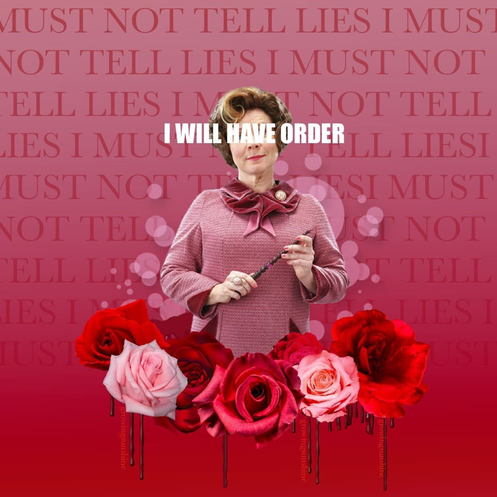 Another Hp post, this time with my least favorite character. No one out evils Umbridge.