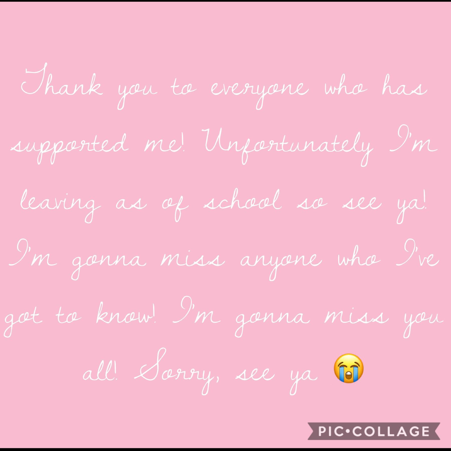 Leaving sorry