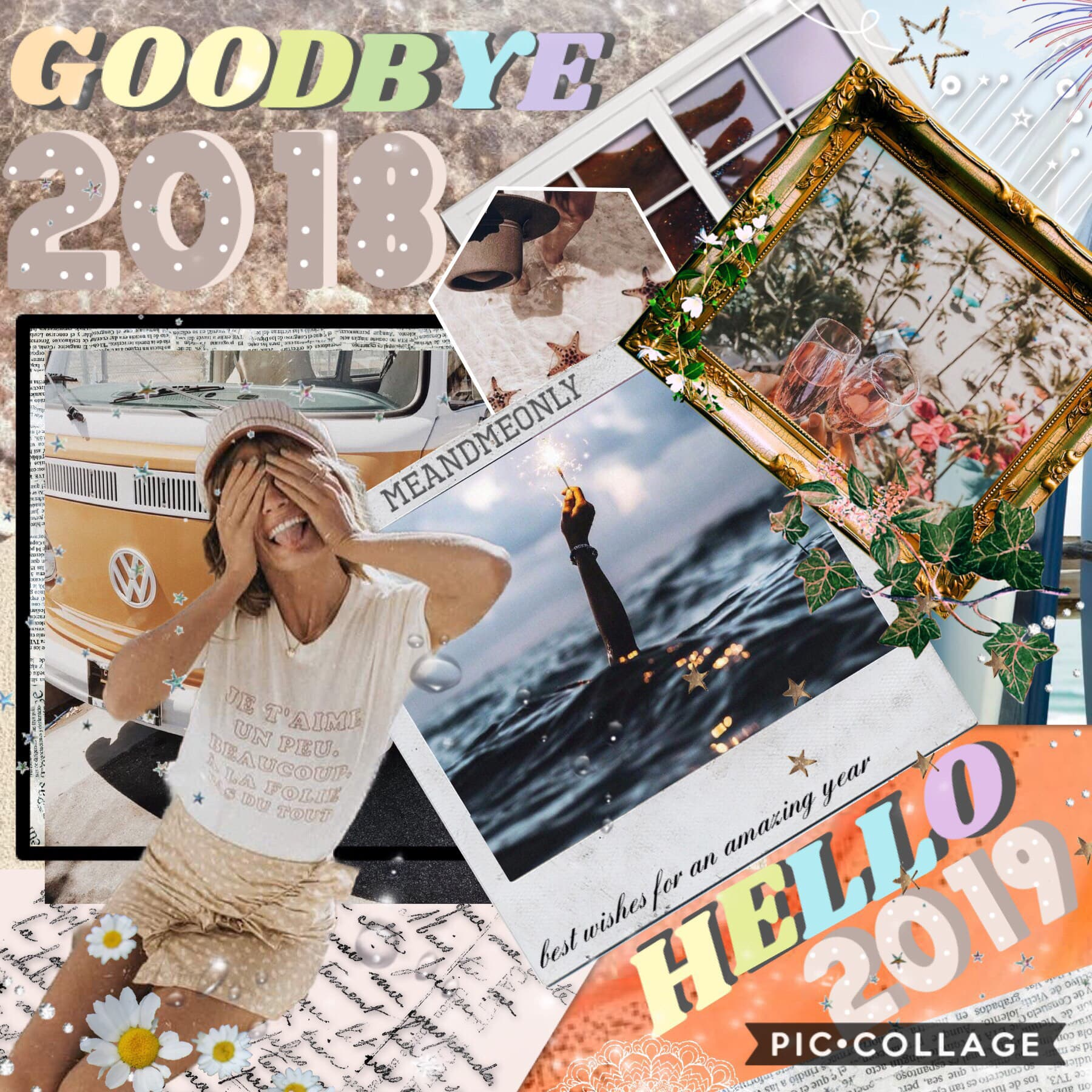 happy new year🥳hello 2019!! I hope 2019 brings all of us amazing memories💫contest results will be our soon💞 commet below your resolutions💘thanks for a brilliant year!! bye 2018 👋