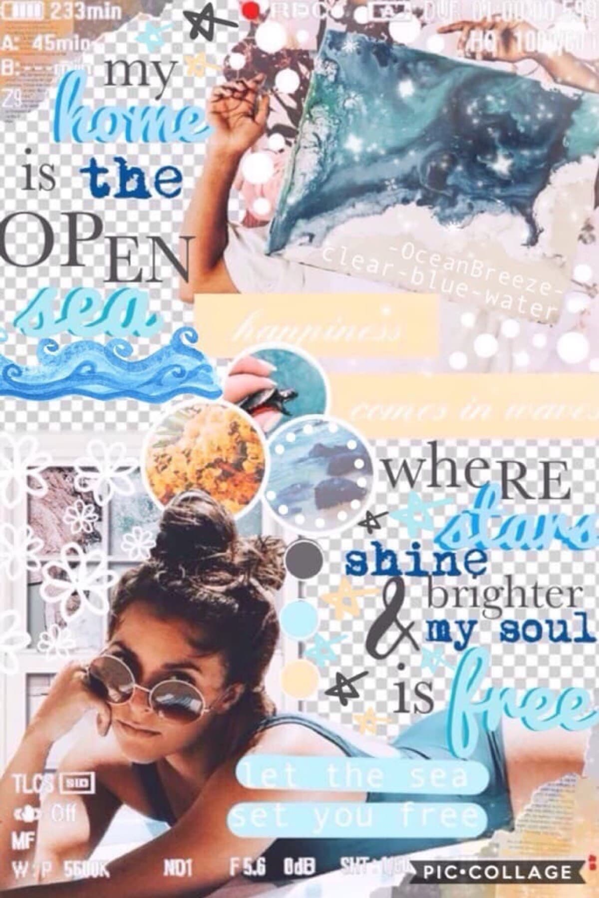 """My home is the open sea where stars shine brighter & my souls is free."" Collab with the gorgeous Sarah clear-blue-water. She did the stunning background and I did the text! Thanks all for the support on my latest post xx Love you all xoxo"