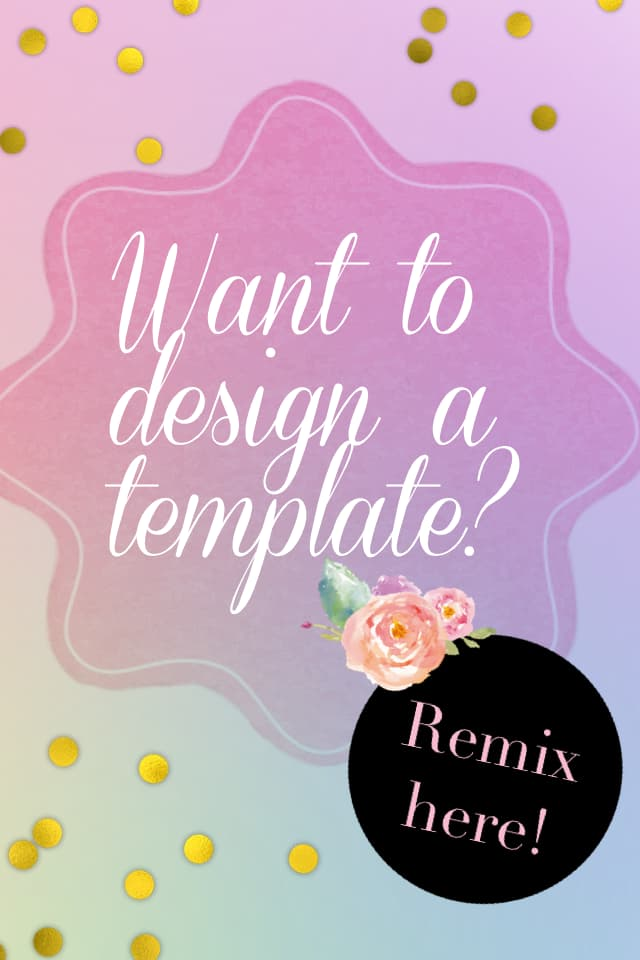 Want to design a template?