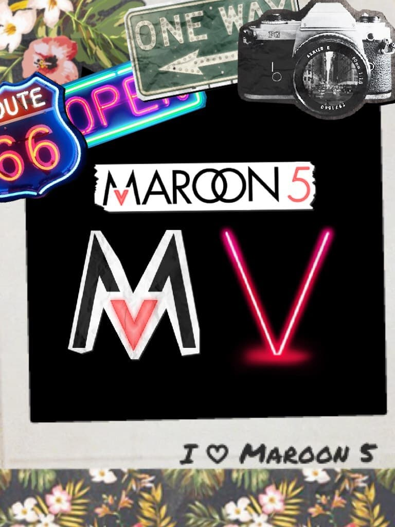 Maroon 5 using the pic collage stickers!