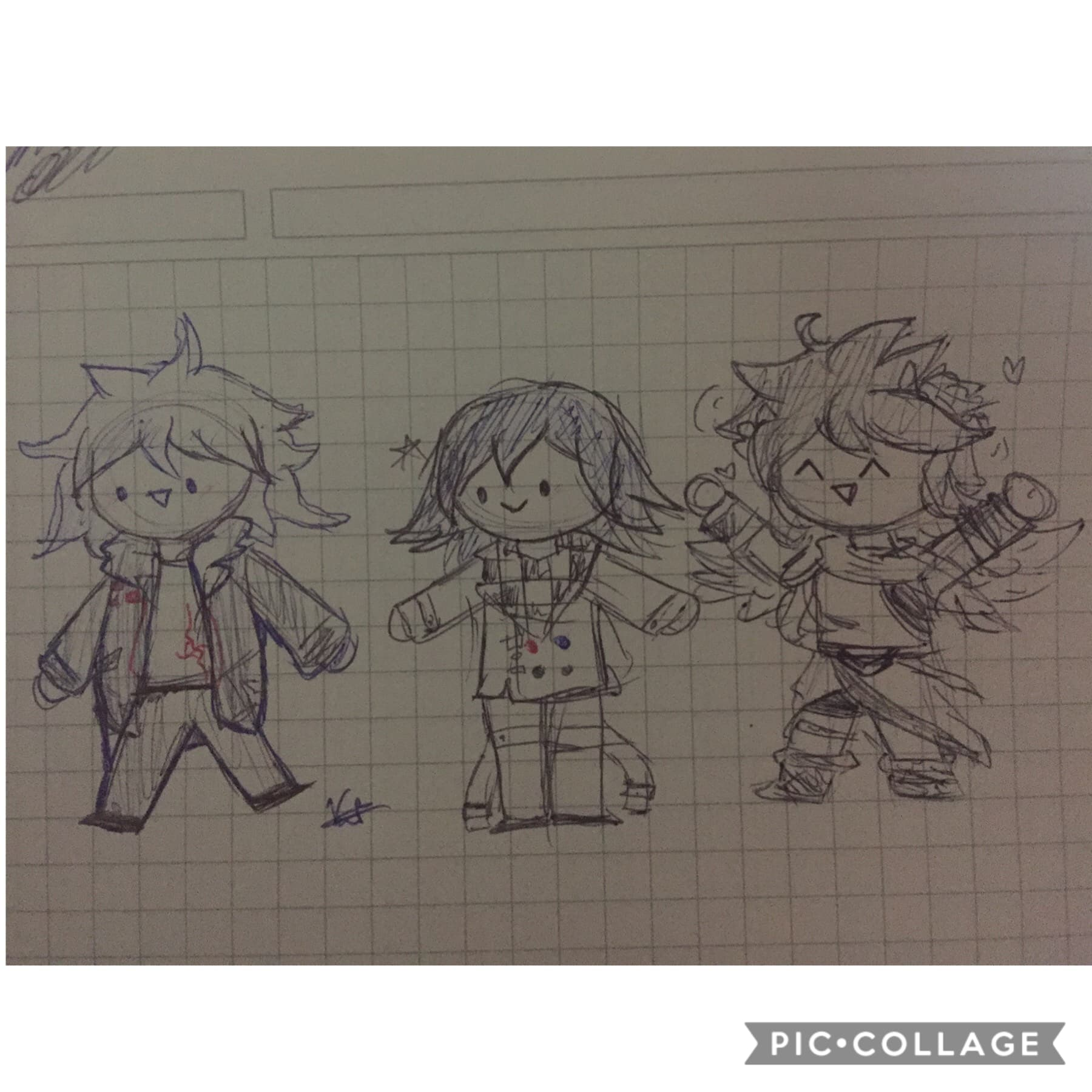 SoMe doodles of my favorite babies 😔💕 Sorry for the bad lightning hH- And im getting a new computer next week! So i'll be able to do drawings again soon ^^