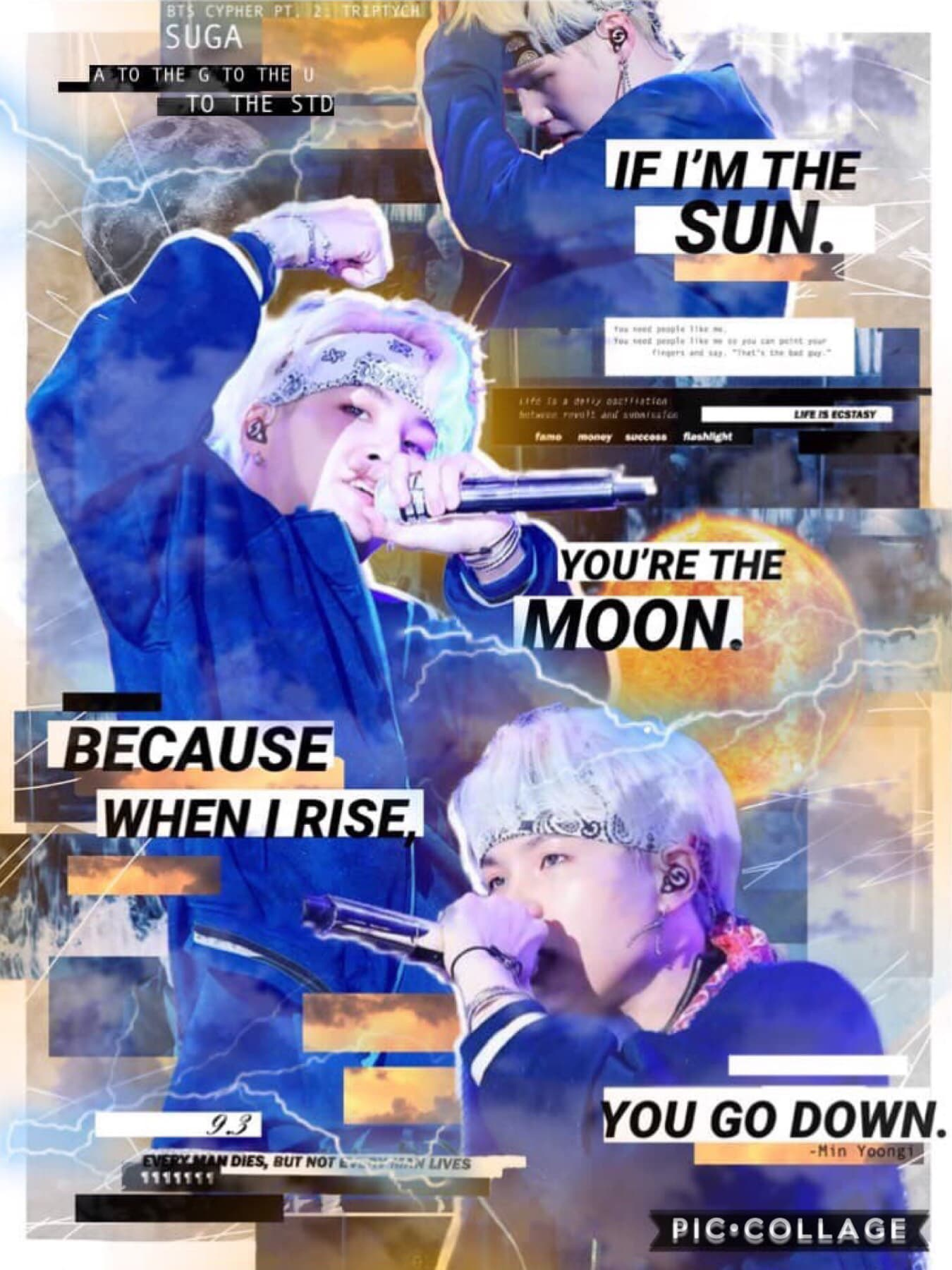 🎂[3.9.93] HAPPY BDAY YOONGIIIIIII!! With a fierce stance as a rapper, but a heart softer than a kitten, you have one of the most enchanting auras on stage that I can't even begin to describe. Remember, we love you💫