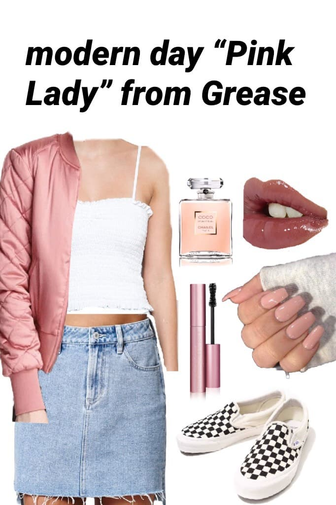 "modern day ""Pink Lady"" from Grease"