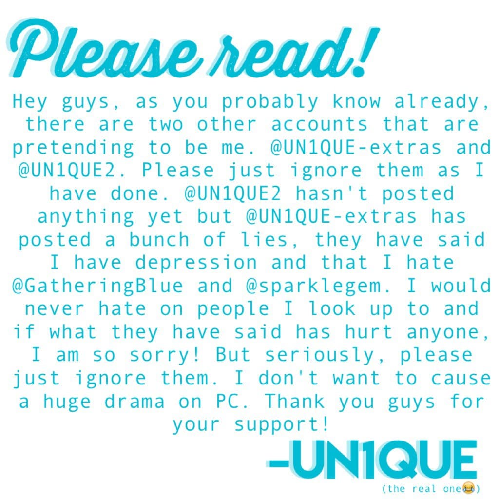 Please read all of this!