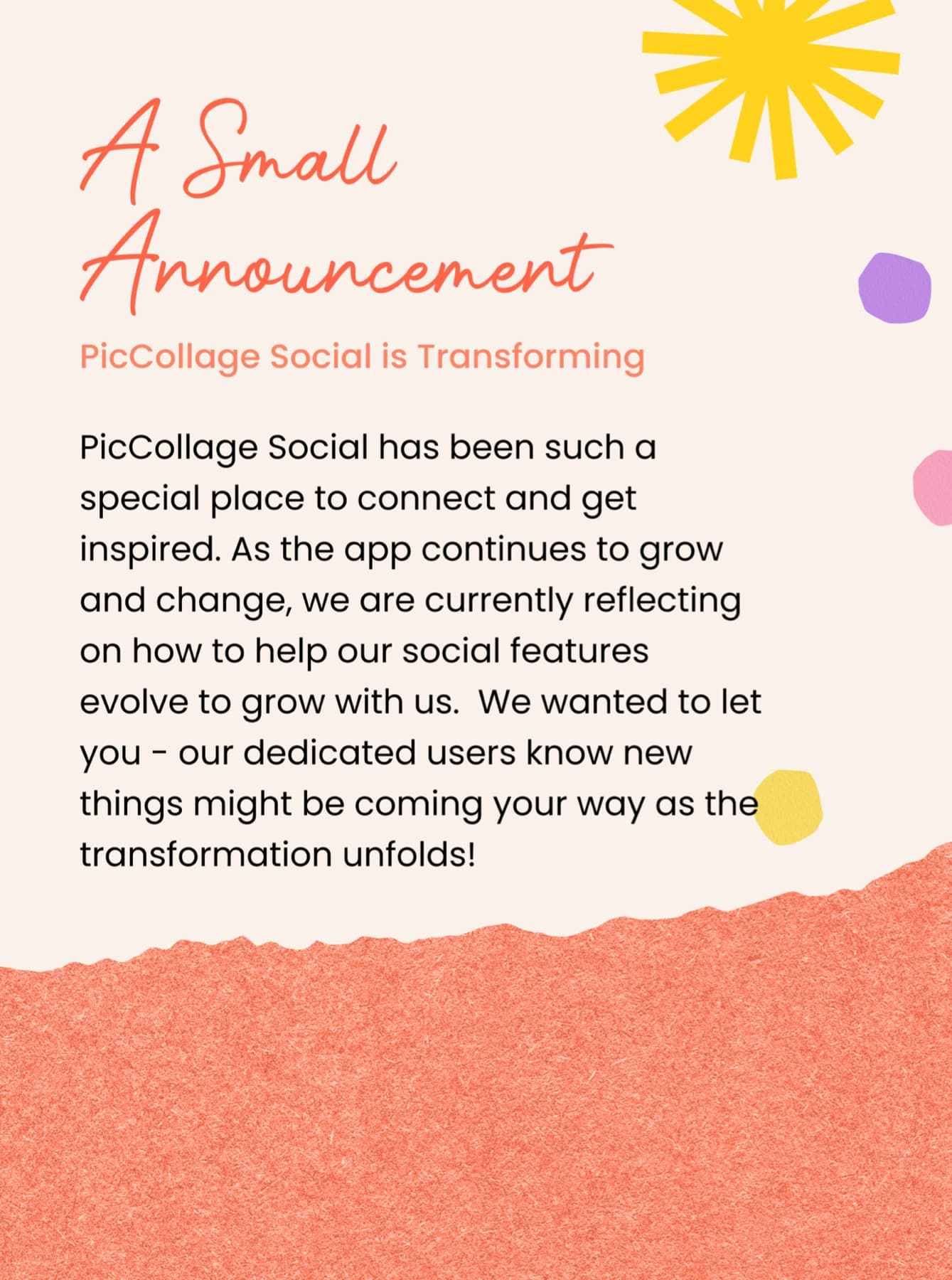 PicCollage Social is transforming!