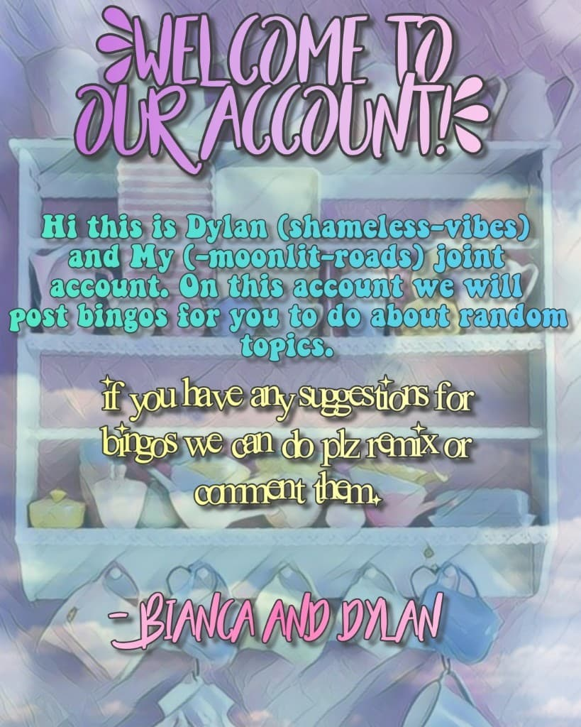 Welcome to our account!