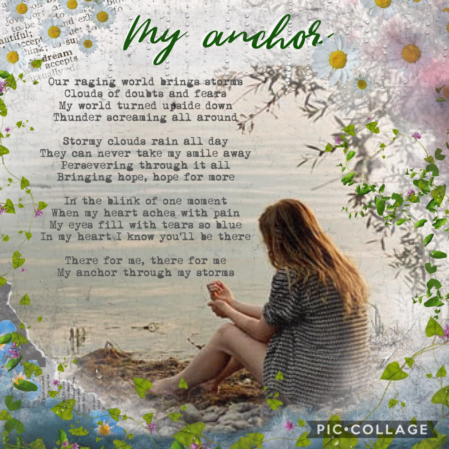 Another poem by me 🙈💗 It's really bad I know but I wrote it for my music composition. 🙈💗I actually really enjoy composing, I'm doing a song atm 🎶more collages on the way just thought I'd share ❤️