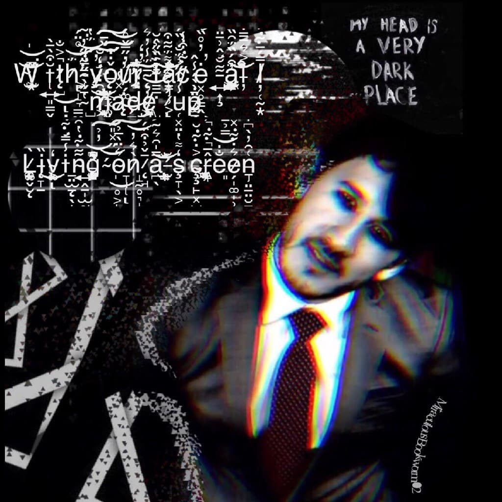 Darkiplier edit [Ahh I used the Zalgo font! I honestly love it so much, it looks so glitchy and awesome!)