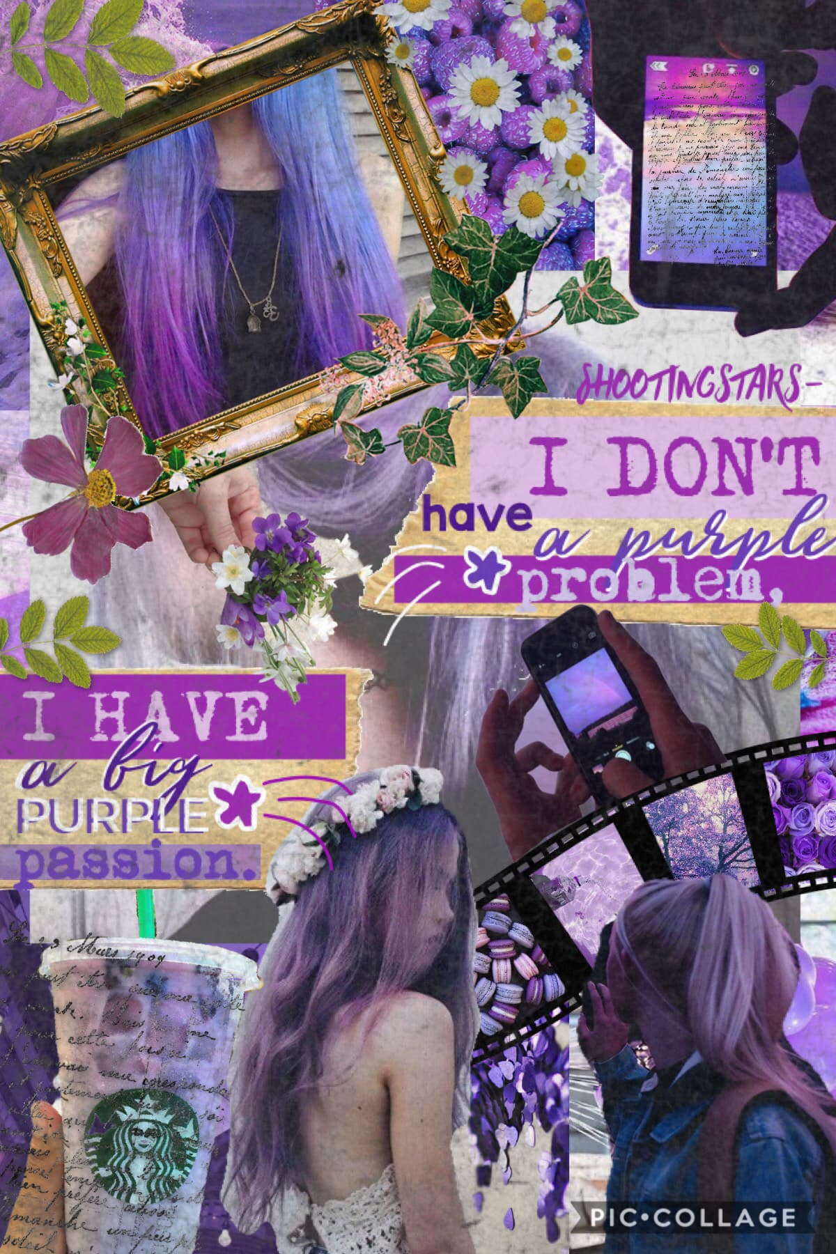 💜Tap💜 Purple collage!💜OMG I really dislike school😫Anyway, how are y'all doing?💞💓🌸I am very hoping for a snow day tomorrow, we are getting a lot of snow and hopefully ice🥶❄️🌨☃️⛄️don't forget to enter my contest!💫🌿