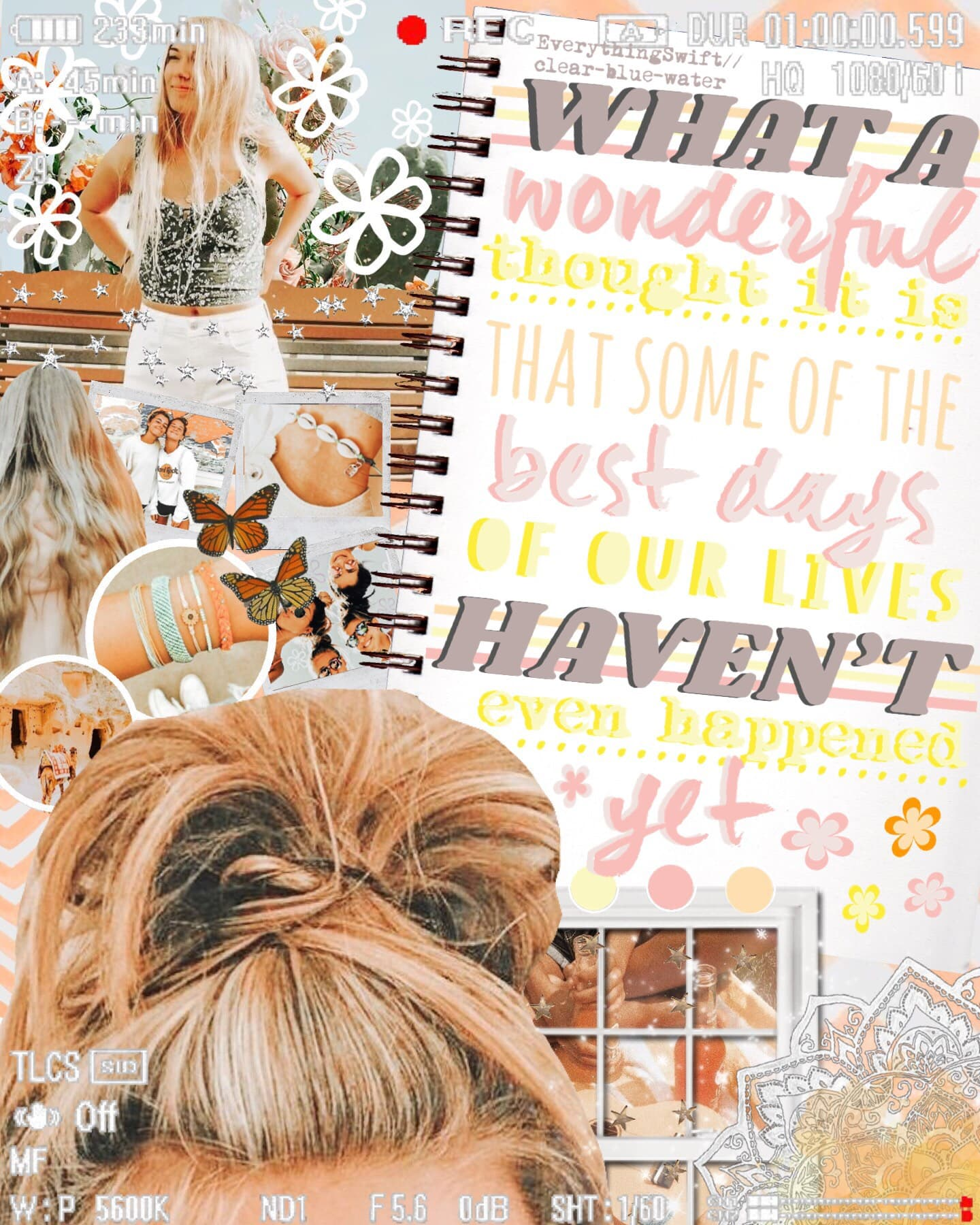 ✰ t a p  f o r  c o l l a b ✰ another collab w/ my bestie clear-blue-water we're both too busy to make our own collages someone talk to me, cause I miss u guys qotd: fav hairstyle? aotd: a messy bun (: