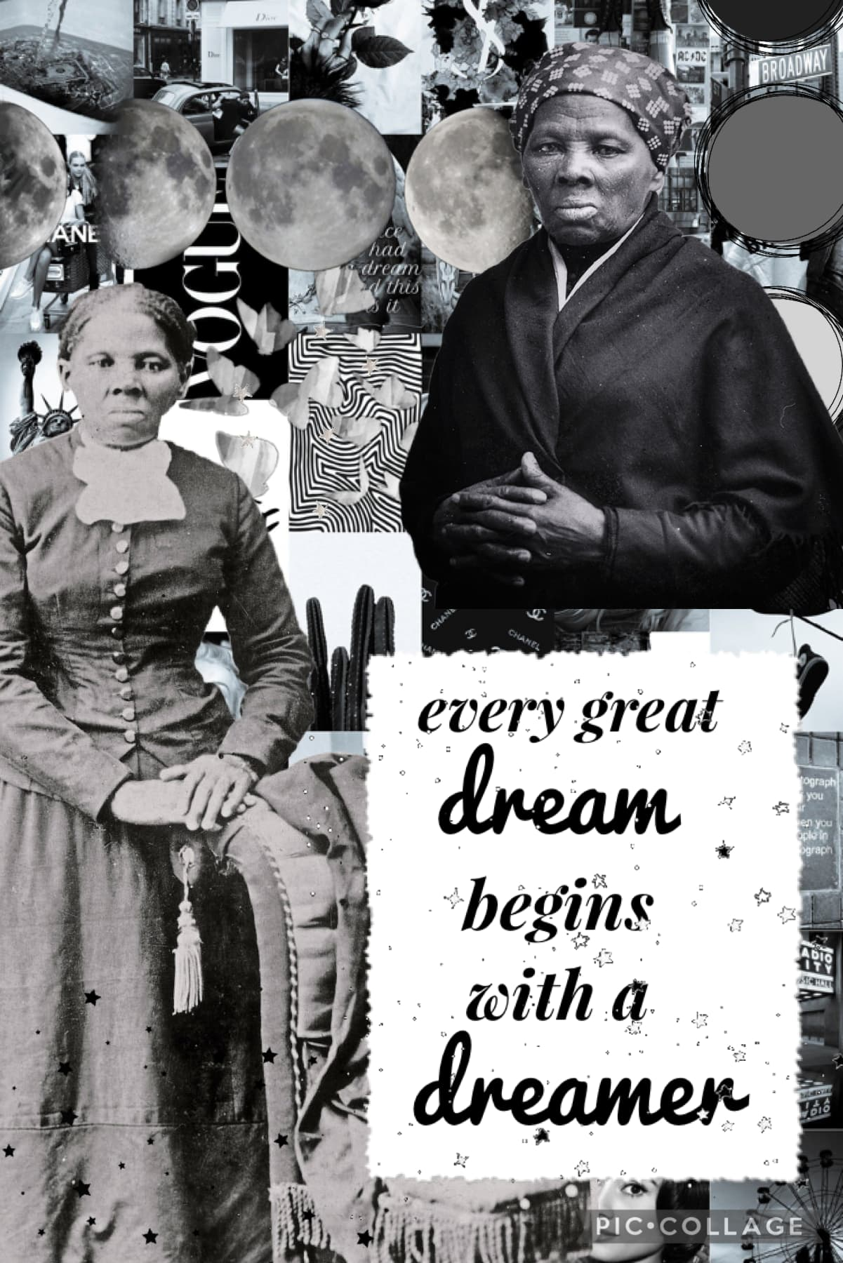 ✨tap✨ black history month collage! ♥️harriet tubman♥️