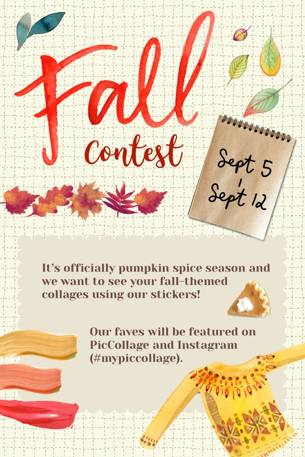 🍁 Fall contest is here! Deadline is Sept 12!