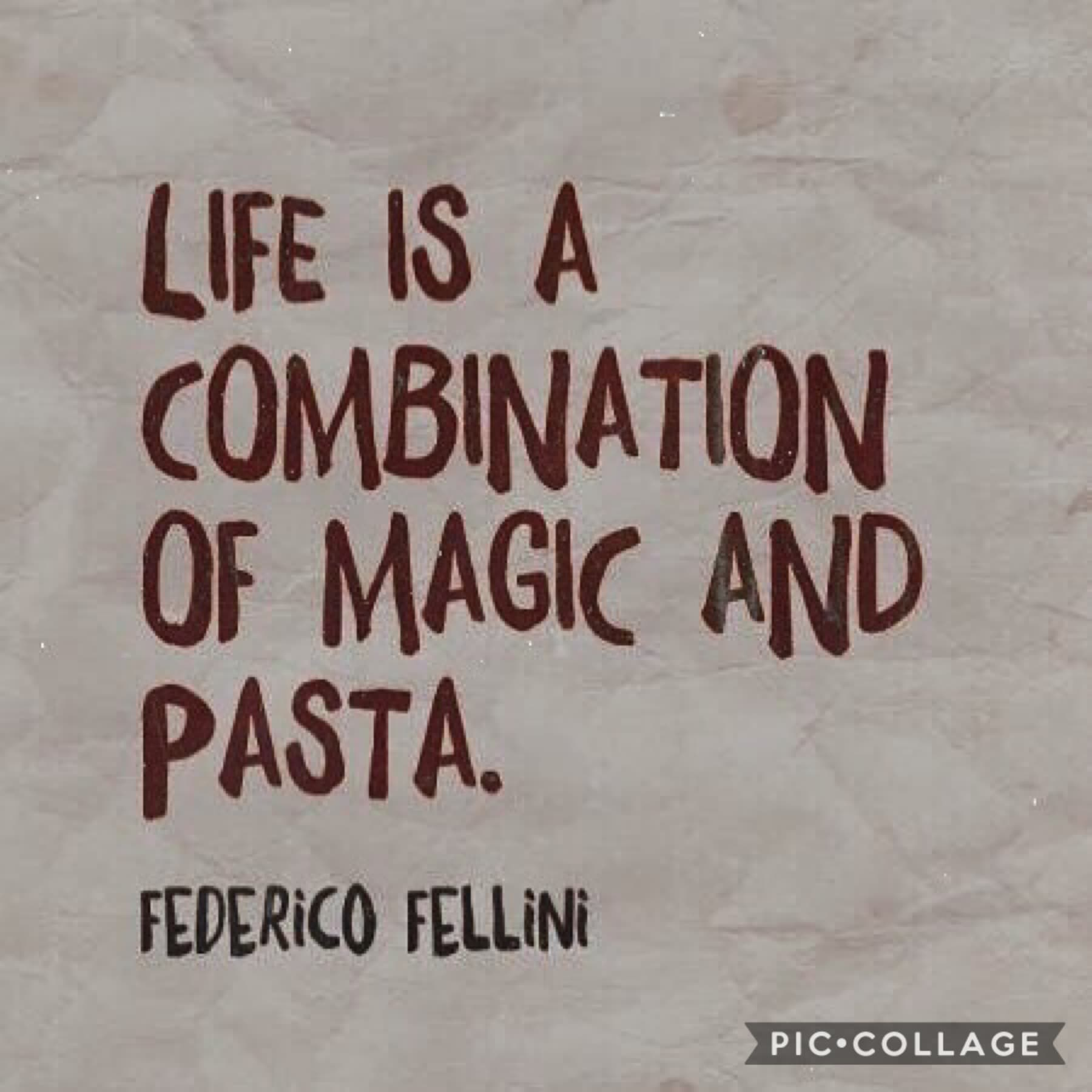 This quote speaks to me on a spiritual level. Seriously tho, there's very few things i care about but pasta is definitely one of them. 🍝