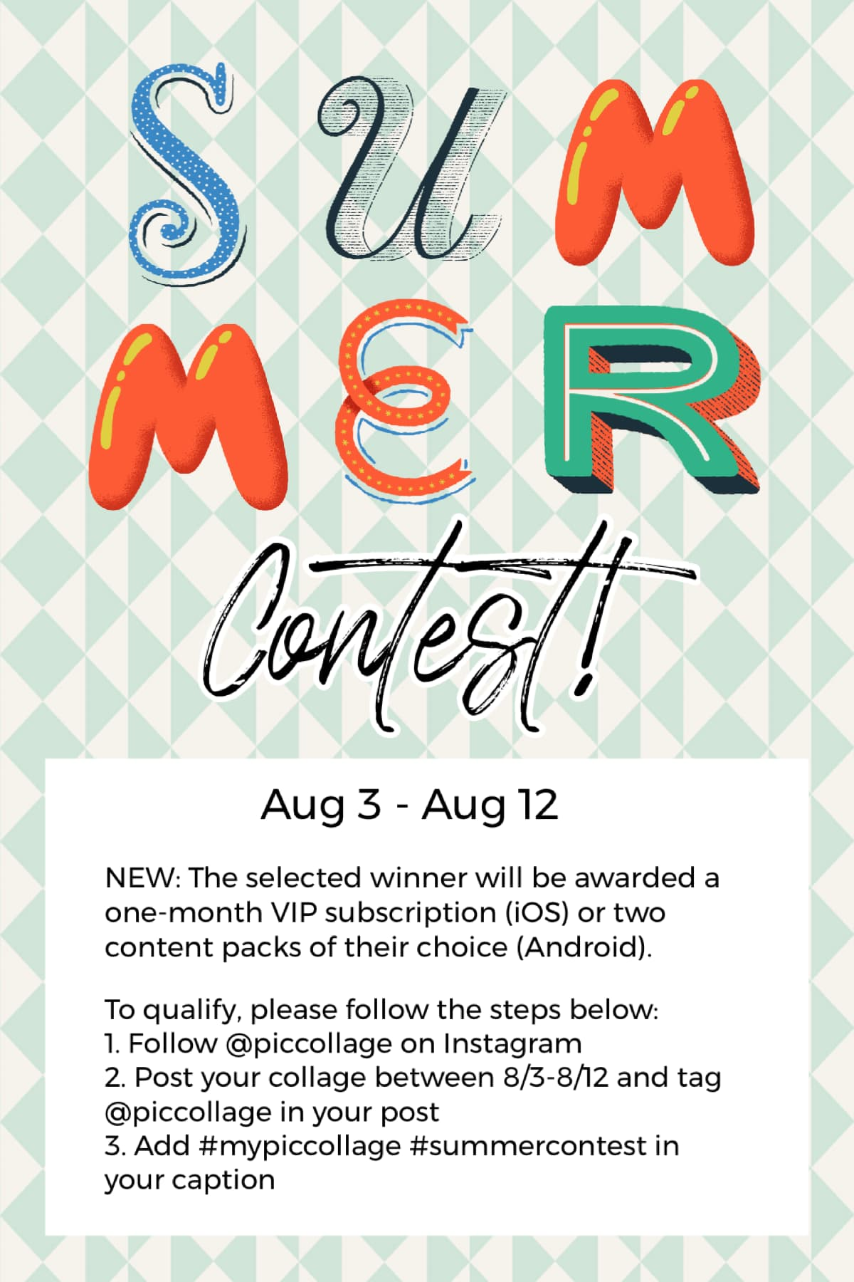 New rules for contests! Show us what summer means to you and see you on IG 😎