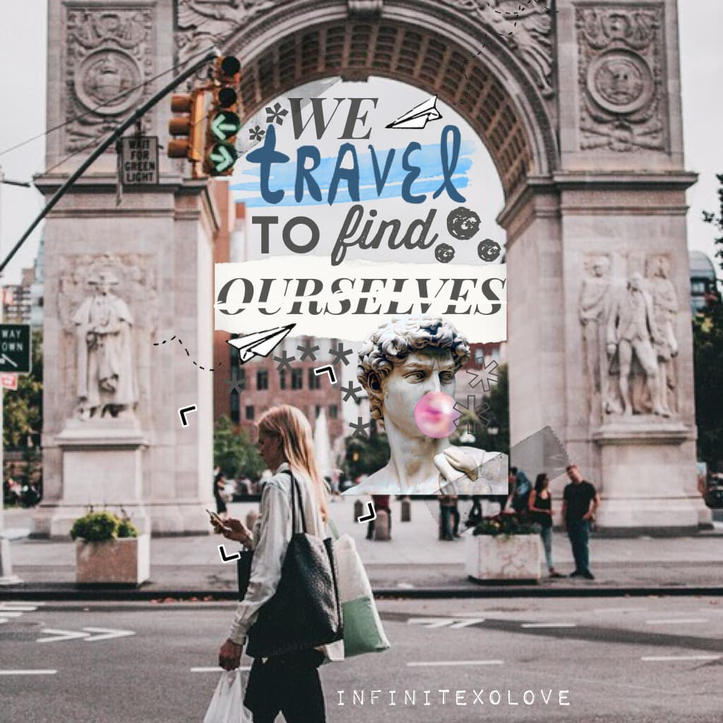 """TRAVEL ✈️: Collage #➂ Short, but sweet.💖The word """"travel"""" was really challenging to create.😂Have u been anywhere breath-taking? Lmk below. Have a wonderful day/night, wherever you are. 🌃p.s. I won't be posting 'till the weekend 🗓"""