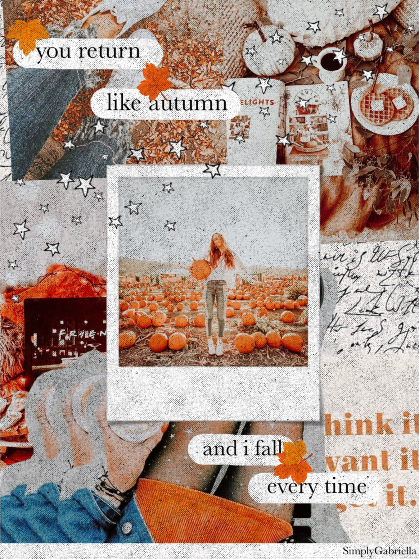 [ t a p ] hi!  this was my entry to pc's fall contest  i was really feeling some fall vibes today  what weather is it like where you live rn? it's 68 degrees and rainy here #FALLVIBES #PC #MAYBENOT #AESTHETIC 🍁