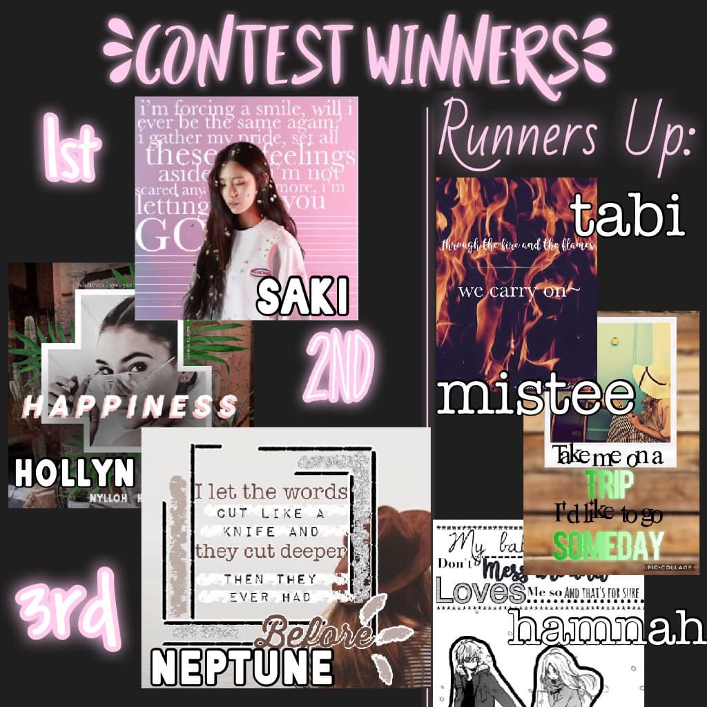 ✨TAP FOR PRIZES ✨ Prizes are in remixes. 1st pick 3, 2nd and 3rd pick 2 and runners up pick 1. They're pretty bad oof. Thank you for all your entries I loved them all-also Adam you would've won something but I think you deleted it :( xx happy Saturday 💗✨