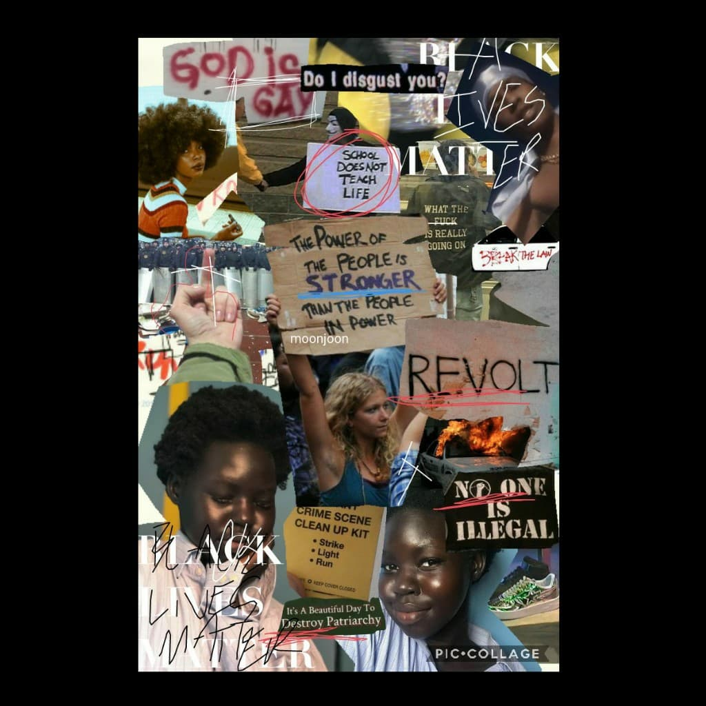 so here's the collage im gonna post on Thursday ALSO i hope y'all understand that  BLACK LIVES MATTER