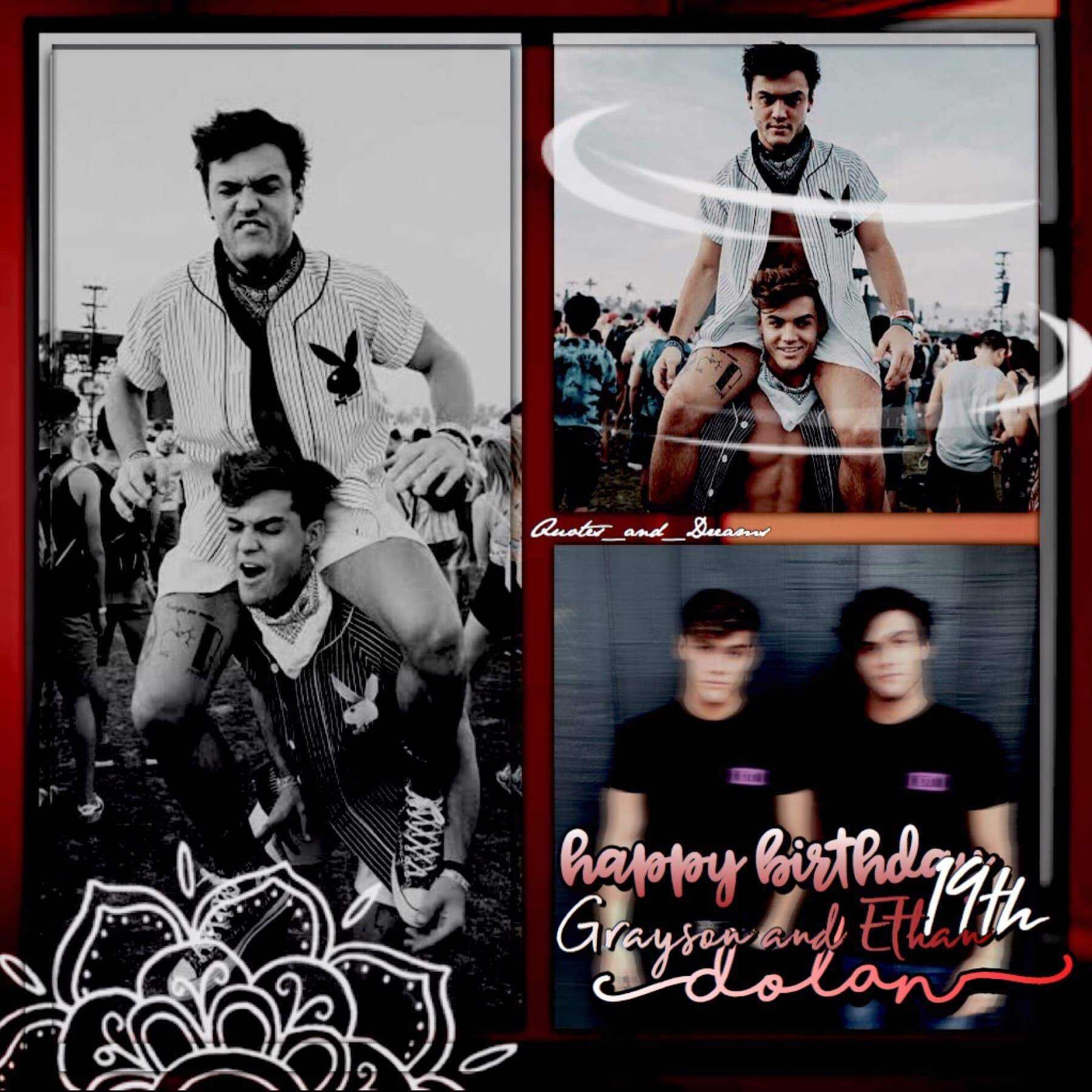 I KNOW IM LATE BUT HAPPY 19TH BIRTHDAY TO GRAYSON AND ETHAN DOLAN ❤️ love you guys 💕
