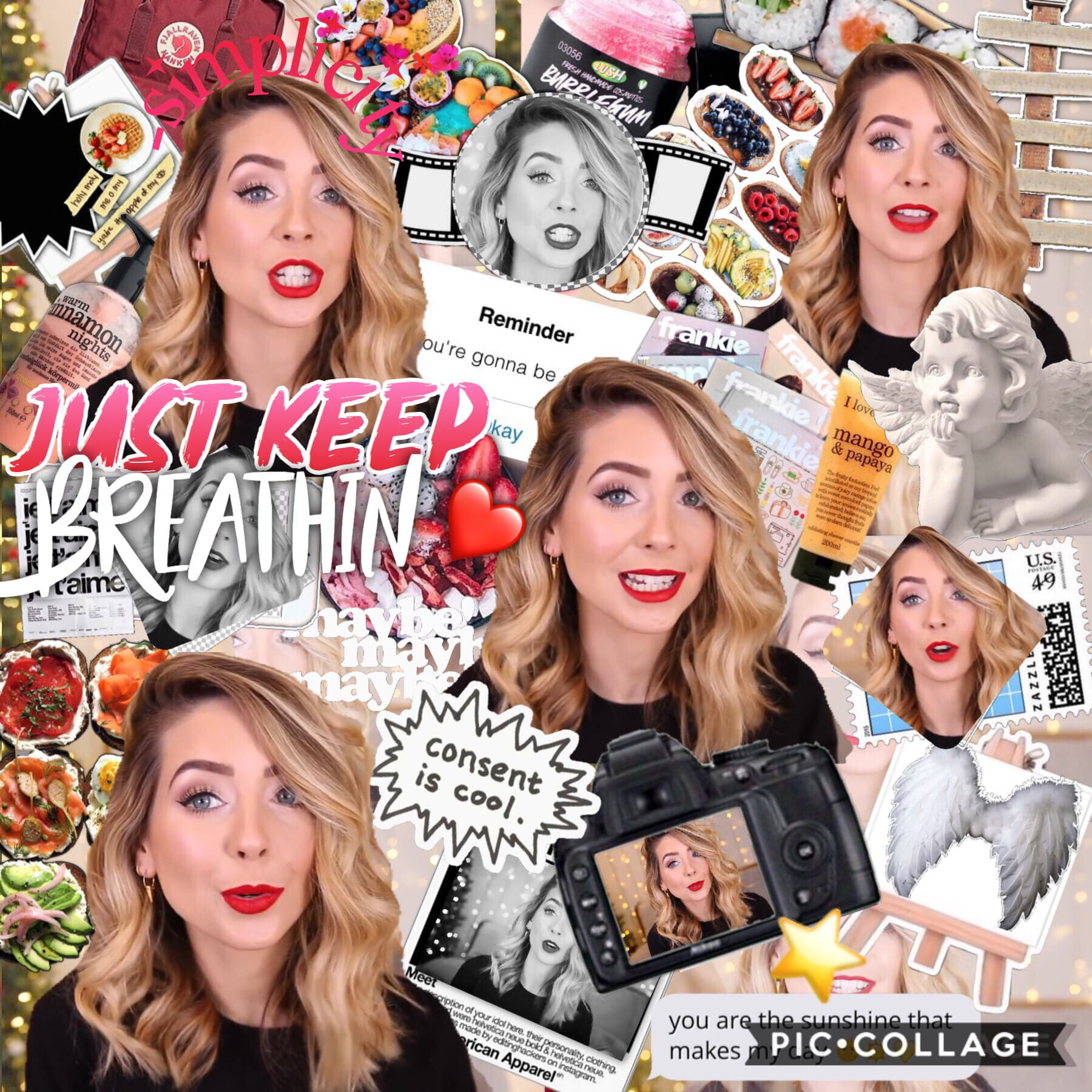 TAP I'm gonna delete the first edit I of laurdiy cause idk I just feel like it. I really liked the second laurdiy edit but I'm not so sure about this zoella one🤔 and also I'm going on vacation tomorrow so I might be inactive.  QOTD: Favorite youtuber AOTD