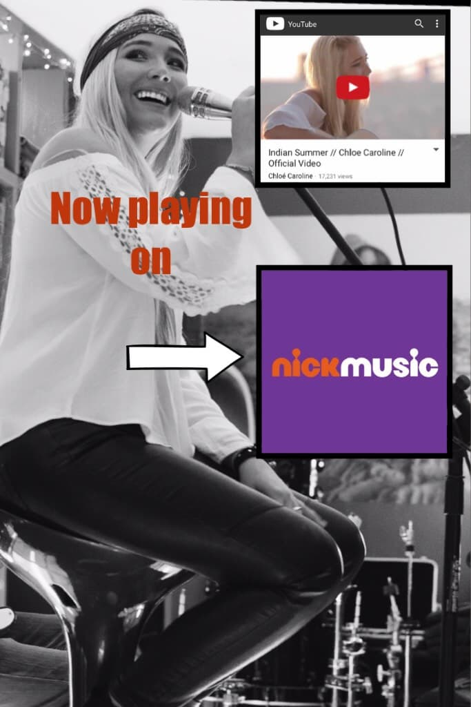 """Chloé Caroline's """"Indian Summer"""" music video Now playing on Nick Music every Wednesday and Sunday!"""