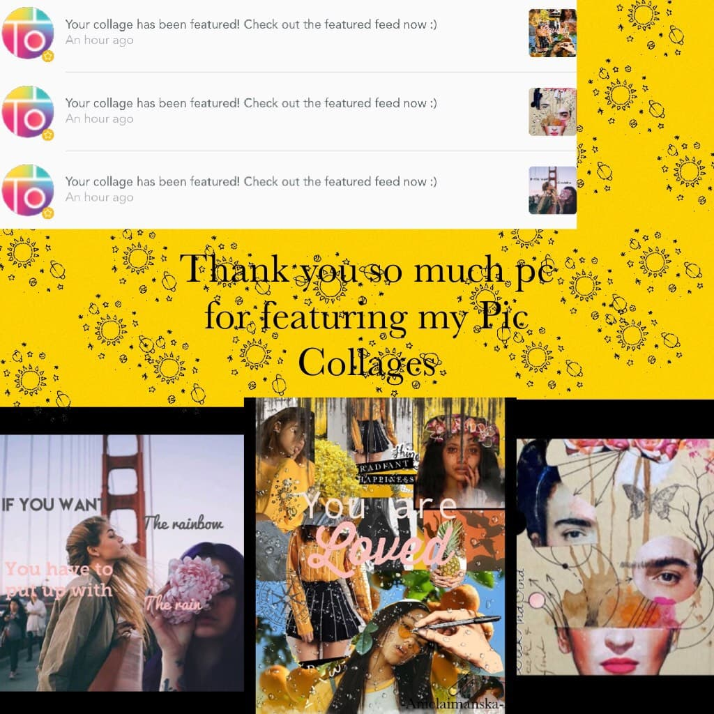 Thank you so much pc for featuring my Pic Collages