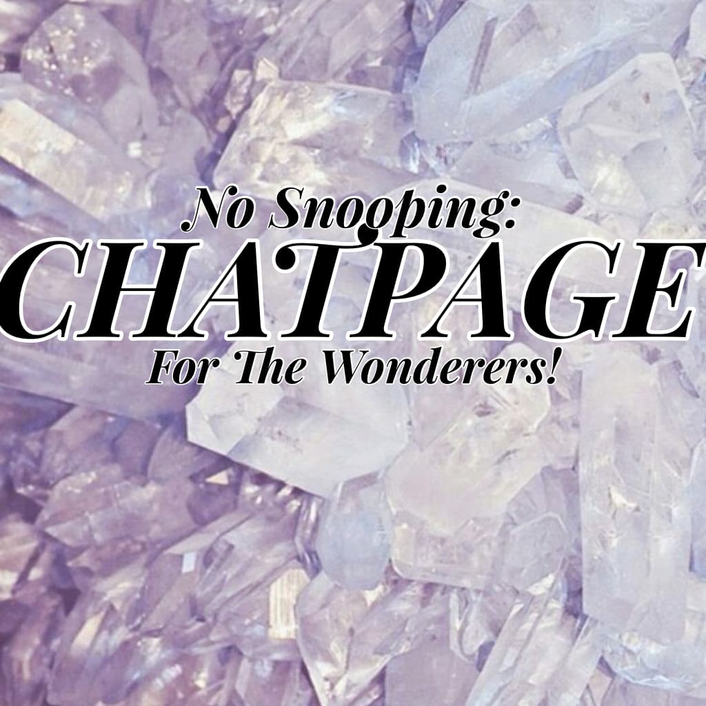 CHATPAGE: Welcome to our new members!!