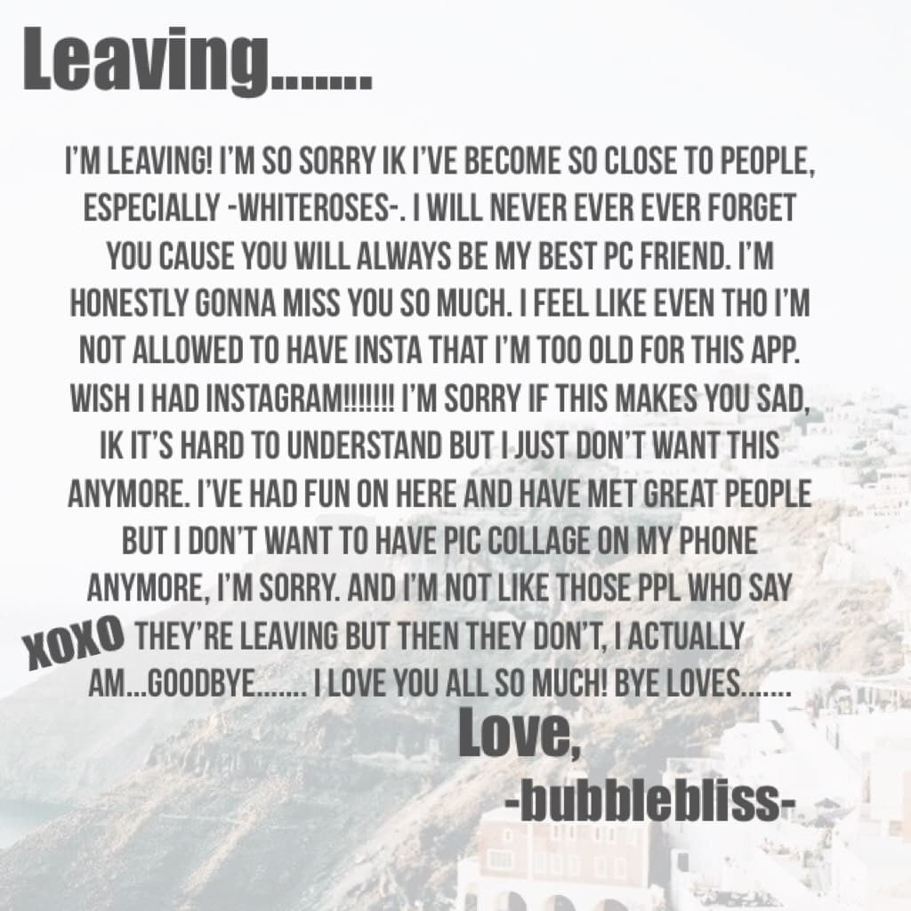 Leaving.......