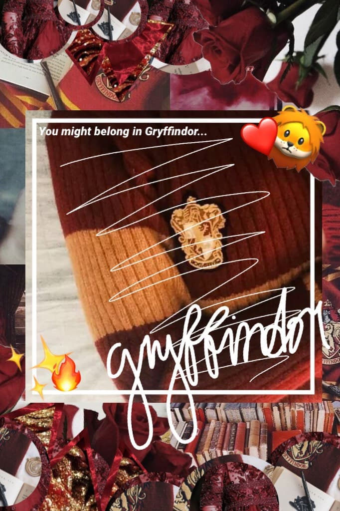 🔥•2/20~Tap•🔥 Gryffindor collage! Sorry it's horrible. I feel like just everything I do now a days are just getting worse and worse, writing and collaging in particular. MY SHOES FINALLY CAME😂 So Yeah...and I'm trying to prepare for a solo...QOTD- Fears? A
