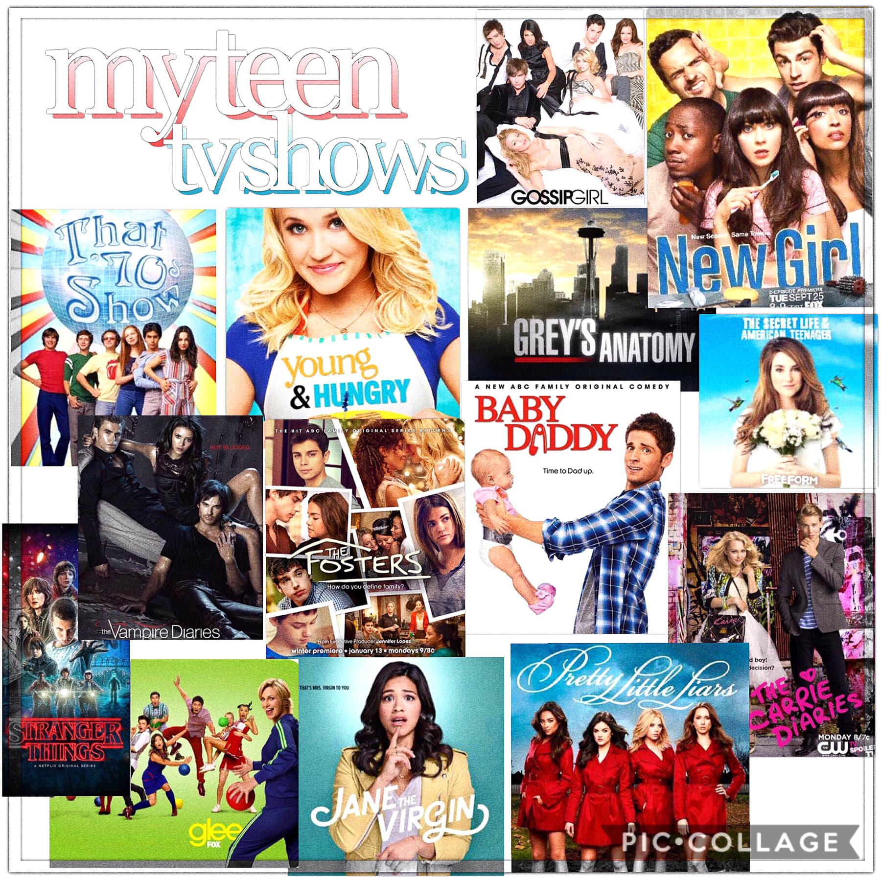 here are my teen shows !! inspo: calz💗