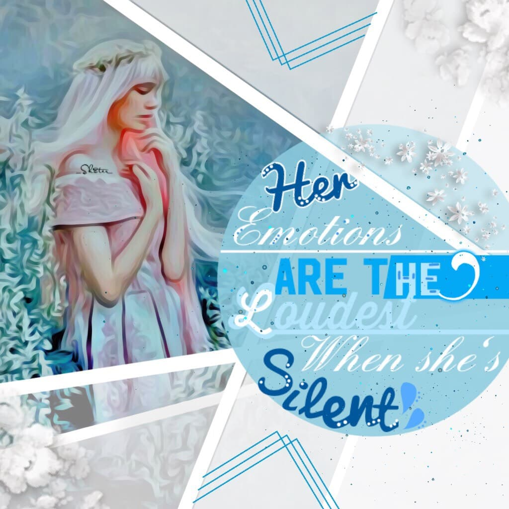 🔹Silent screams of emotion🔹 Will it ever stop snowing?! Where's spring?! 💐