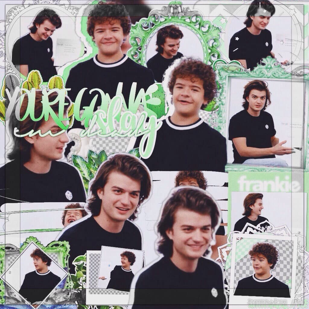 my two babies ☁️🌿 I just finished rewatching stranger things and now I have nothing to watch, any recommendations?  q// gaten or joe? a// I love gaten but joe has my heart 💚