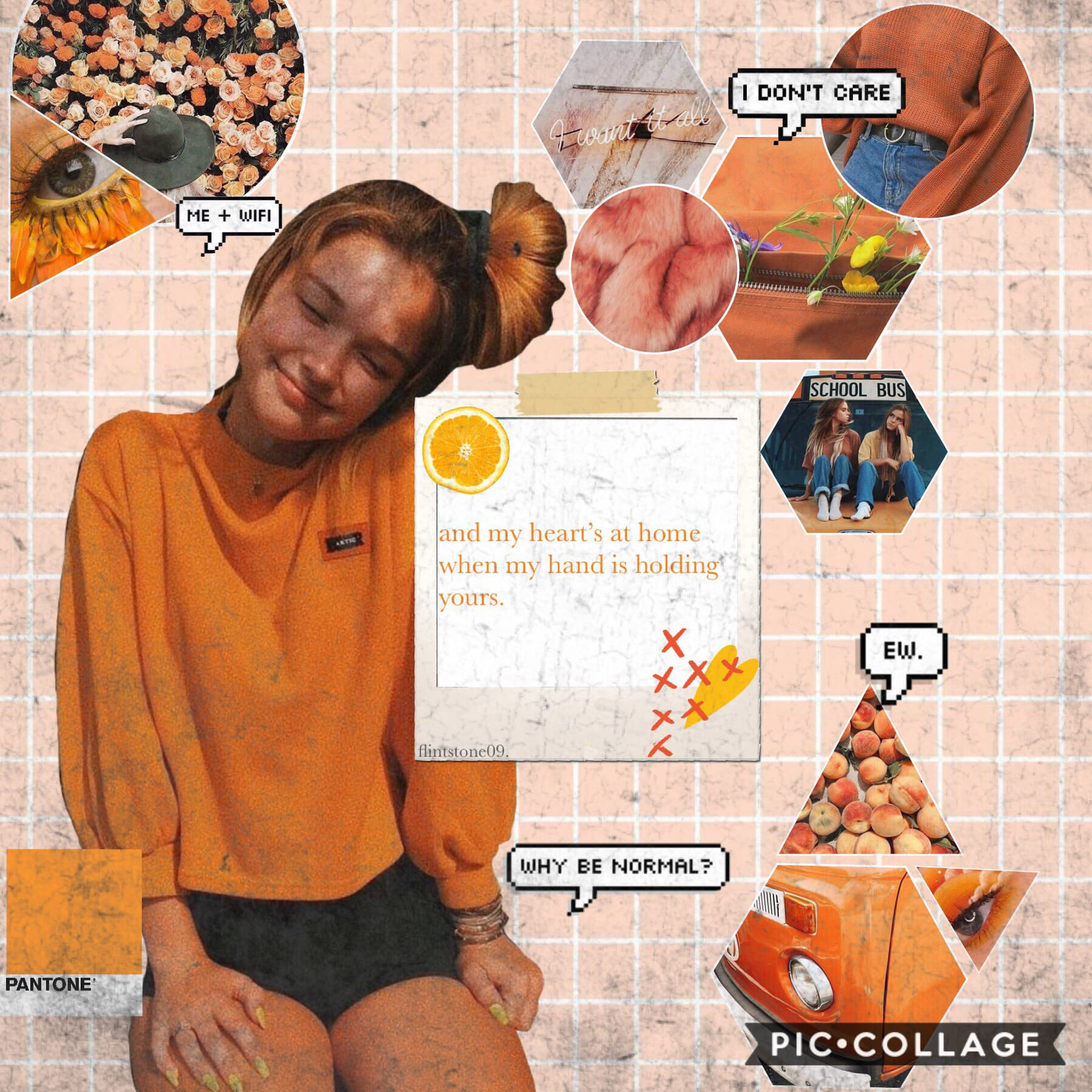 5th post of theme. 🍊TAP🍊  My FAV AHHH😁so aesthetic😊 ORANGE  QOTD: Braids or topknots? (or buns or whatever<) AOTD: Braids, cuz I kinda suck when it comes to updos😅💩