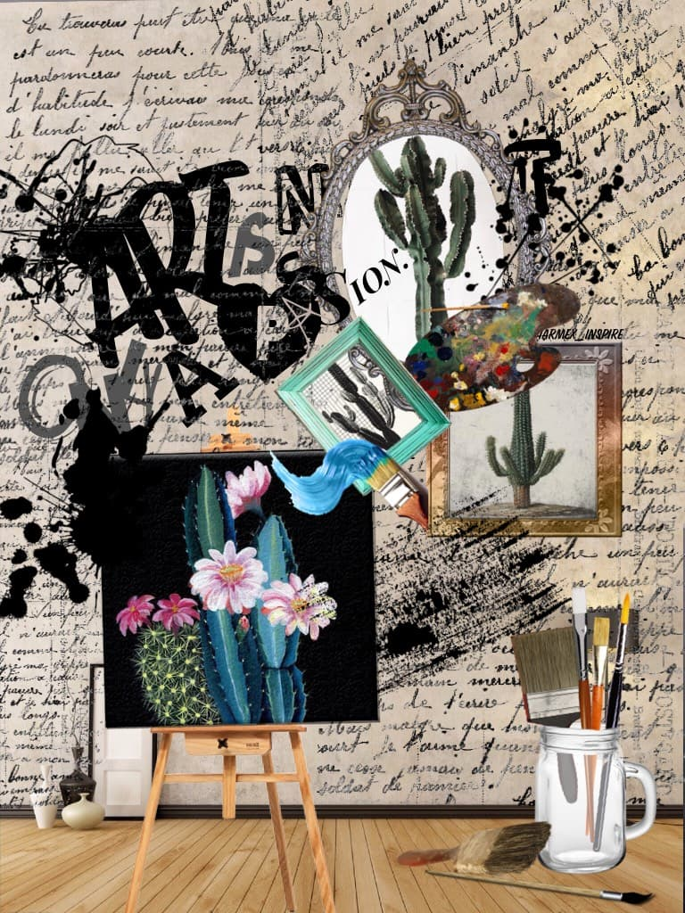 """""""Art is not only a passion."""" I have legit never touched some of these uncommonly used piccollage fonts. Lol I basically used all my least favorite fonts 😂 but I'm surprised it turned out beautifully...I feel like I always post at 1am"""