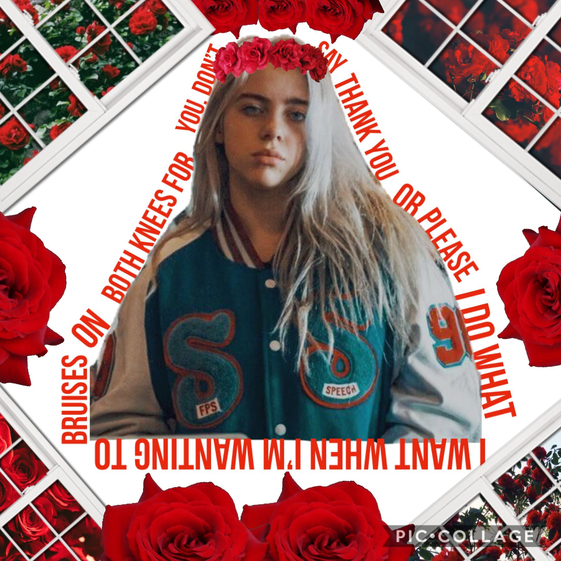 Can you please tap?🤔🌹  Okay, so Im still thinking of ideas, but while I do.. I made this.. heh.. what do you think?😬  QOTD: Favorite Billie Eilish song?🌹 AOTD: ALL OF THEM..😂❤️ ✌️