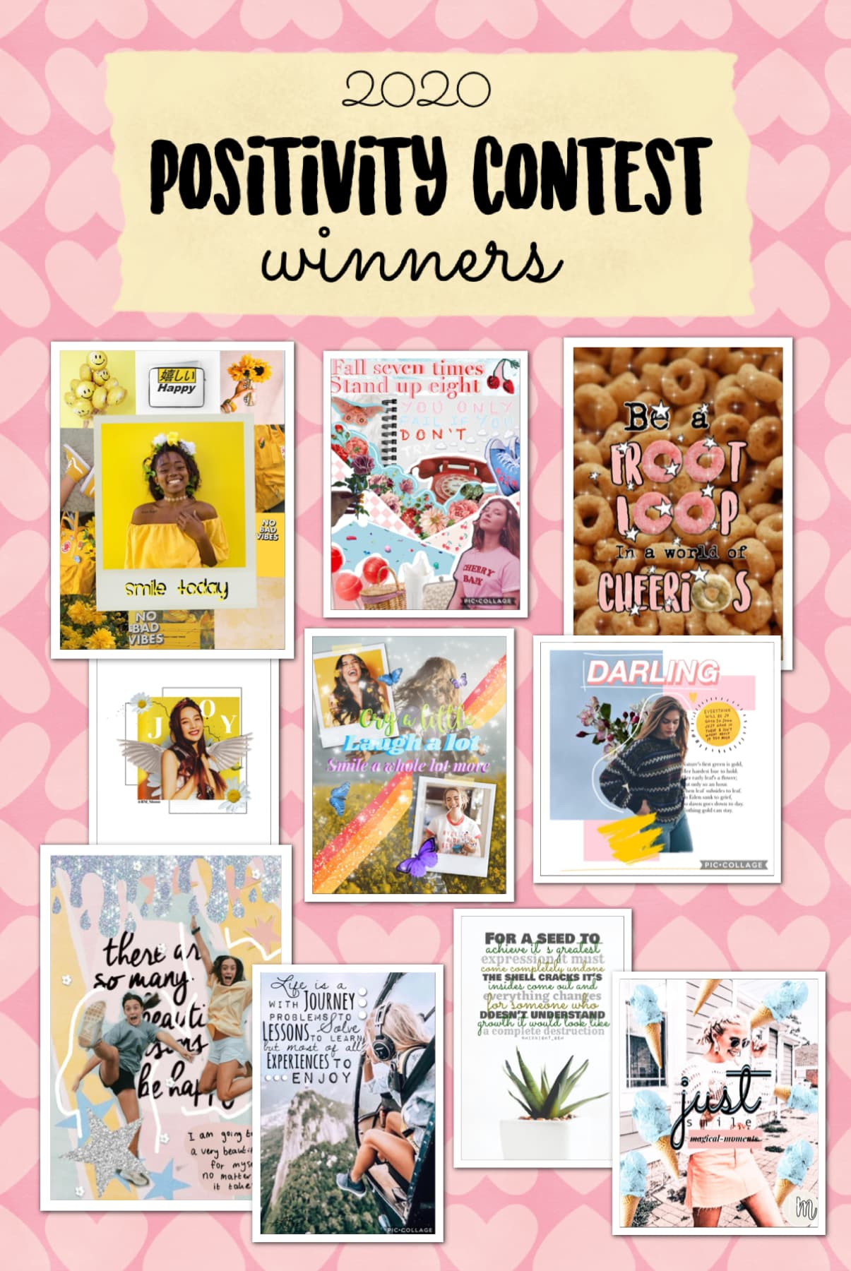 Winners are out. Thank you for your patience. Even w/o this contest, please continue to spread positivity 💖🥰