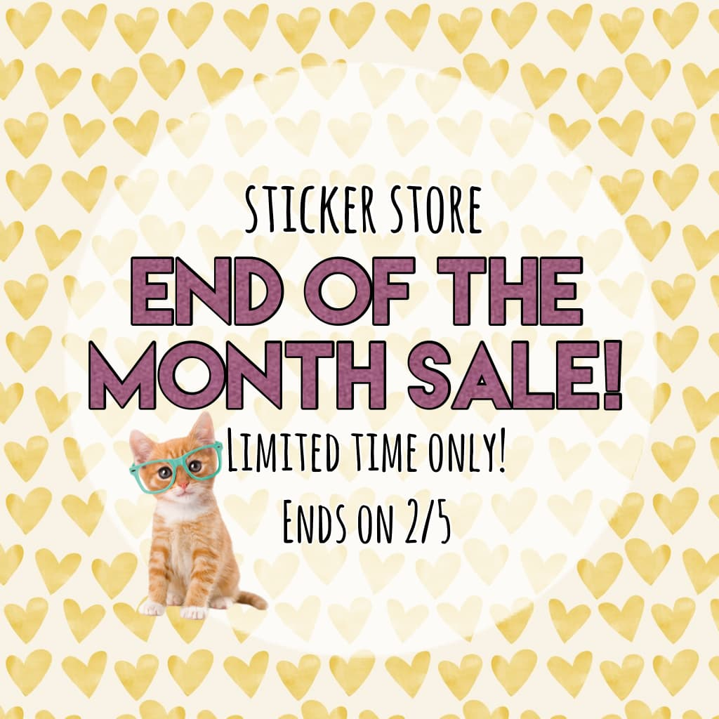 End of the month sale!