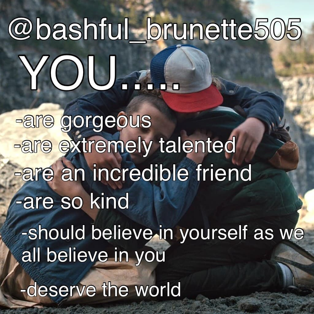 @bashful_brunette505 thank you so much for existing !! You are one of the greatest humans I've ever met!! You are also one of the greatest friends anyone could have. Stay strong, bc we all love you in this community.💖💜