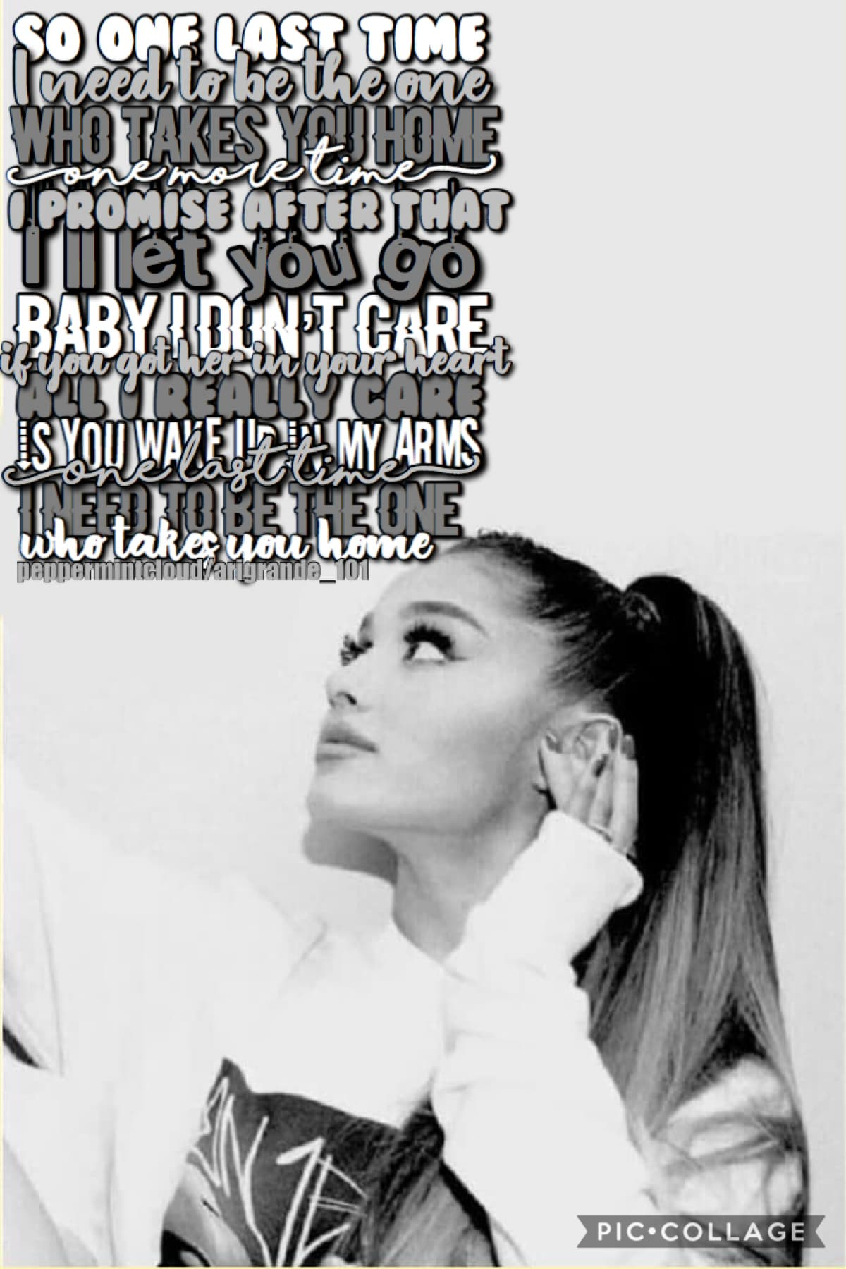 Collab with my bestie....... Arigrande_101!!! Go follow this talented person! She picked out the gorgeous background and I did the text!   10 DAYS TILL CHRISTMAS YAHOO! ☺️☺️